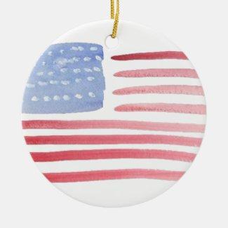 Americans USA Flag Christmas Tree Ornaments