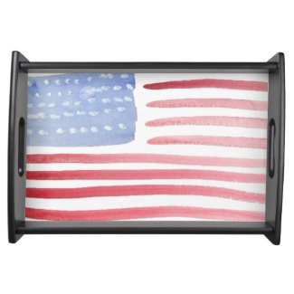 USA Patriotic Home Serving Party Trays