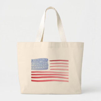 Americans USA Flag Large Tote Bag