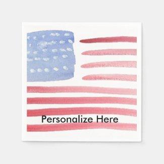 American USA Flag Party Napkins