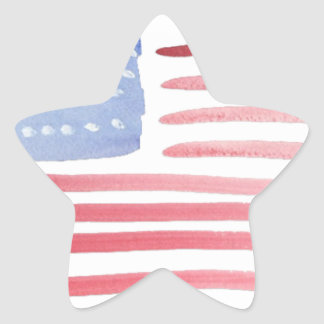 Americans USA Flag Star Sticker