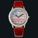 """Americans USA Flag Watch<br><div class=""""desc"""">Featuring key rings,  business card holders and custom watches for career and occupation themes,  holidays and occasions.</div>"""