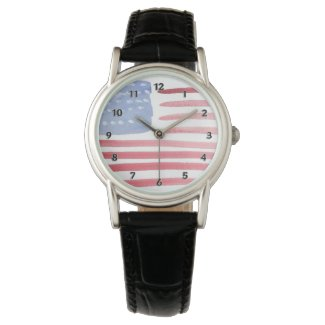 Patriotic Personalized Watches With USA Flag