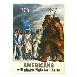 Americans Will Always Fight For Freedom! Postcard