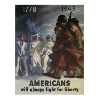 American's Will Always Fight for Liberty Posters
