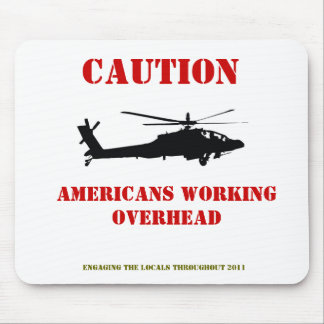 Americans working overhead mouse pad