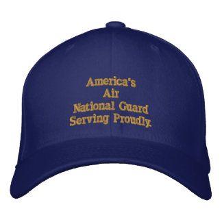America's Air National Guard. Embroidered Baseball Cap