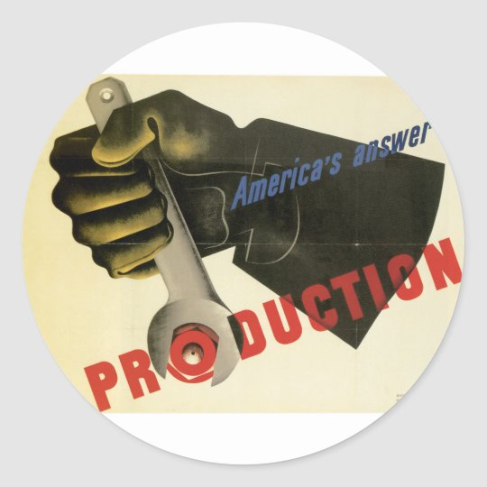 America's Answer! Production Classic Round Sticker