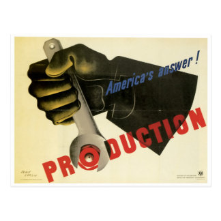 America's Answer! Production Postcard