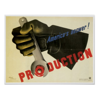 America's Answer ~ Production! Poster