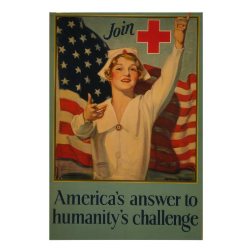 America's answer to humanity's challenge poster