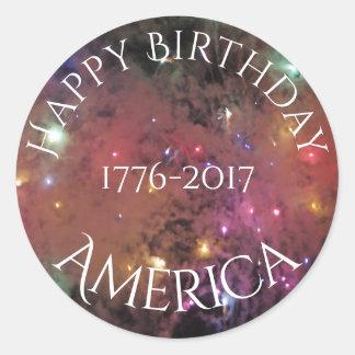 Americas Birthday Classic Round Sticker