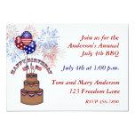 "America's Birthday July 4th Invitation 5"" X 7"" Invitation Card"
