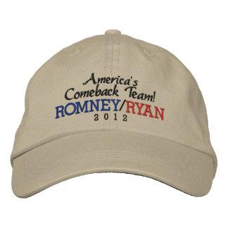 America's Comeback Team Romney/Ryan 2012 Cap Embroidered Hat