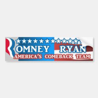 America's Comeback Team Romney Ryan Bumper Sticker