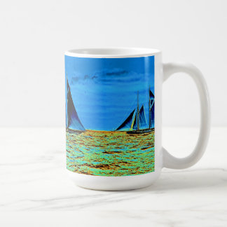 America's Cup Contenders 'Idler' and 'Hildegarde'  Classic White Coffee Mug