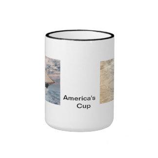 America's cup . . . the beginning ringer coffee mug
