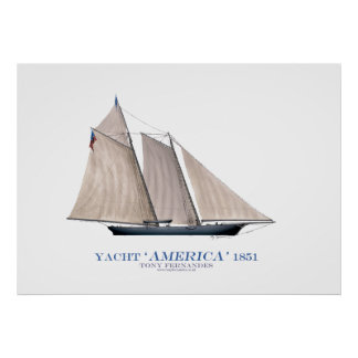 americas cup yacht 'america 1851', tony fernandes poster