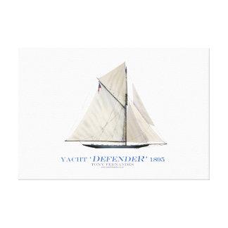 americas cup yacht 'defender 1895', tony fernandes canvas print