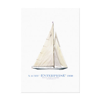 americas cup yacht enterprise 1930, tony fernandes canvas print