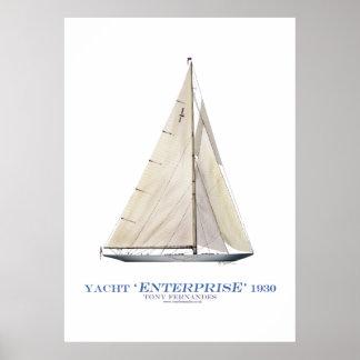americas cup yacht enterprise 1930, tony fernandes poster
