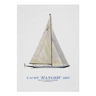 americas cup yacht 'ranger', tony fernandes print