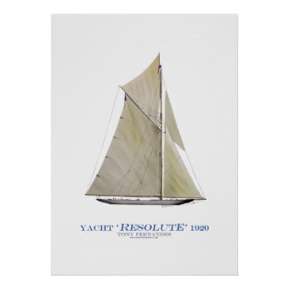 americas cup yacht 'resolute 1920', tony fernandes poster