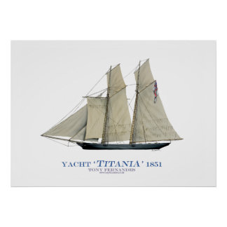 americas cup yacht 'titania 1851', tony fernandes poster
