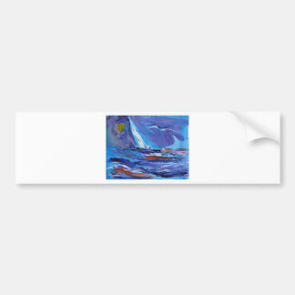 America's Cup Yachting Bumper Sticker