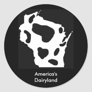 America's Dairyland Classic Round Sticker