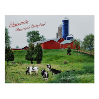 America's Dairyland Post Card