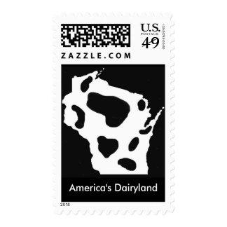 America's Dairyland Postage Stamp