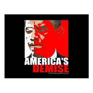 America's Demise Postcard