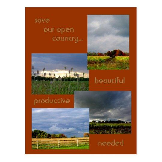 America's Farmlands 2 photo postcard