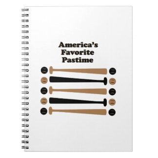 Americas Favorite Pastime Notebook