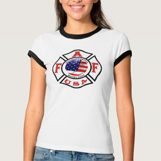 America's Fire Fighters Flag Logo T-Shirt
