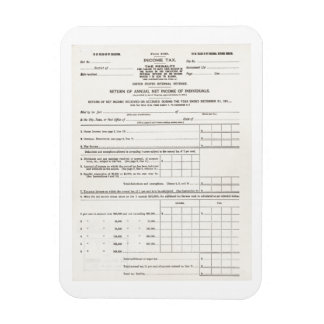 America's First Income Tax Form Magnet