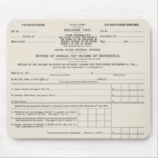 America's First Income Tax Form Mousepad