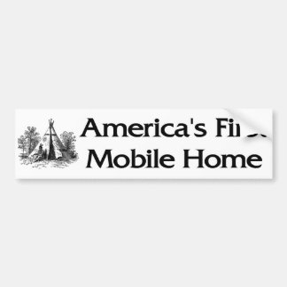 America's First Mobile Home Car Bumper Sticker
