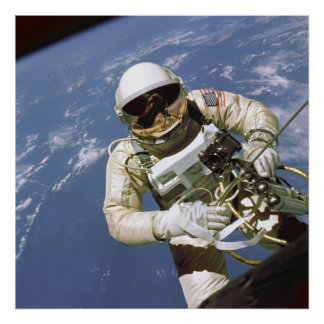 "America's First Space Walk 24""x24"" poster"