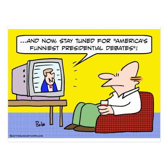 americas funniest presidential debates postcard