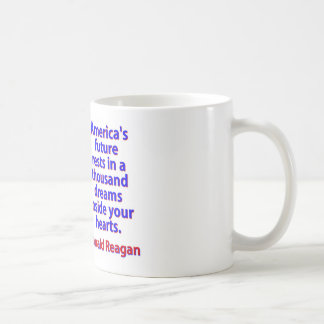 America's Future Rests  - Ronald Reagan Coffee Mug