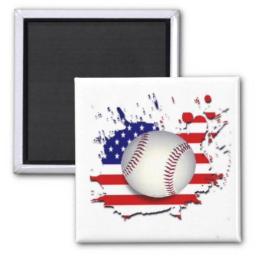 AMERICAS GAME 2 INCH SQUARE MAGNET