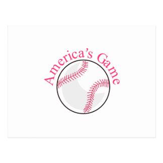 Americas Game Postcard