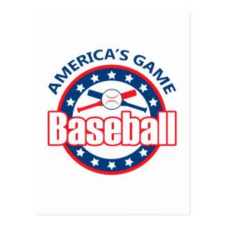 America's Game Postcard