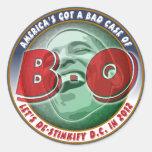 America's Got a Bad Case of... Classic Round Sticker