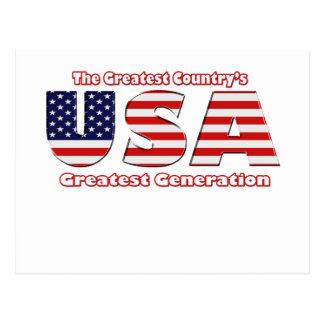 America's Greatest Generation Postcard