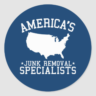 Americas Junk Removal Specialists Classic Round Sticker