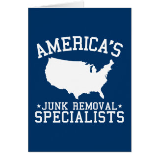 Americas Junk Removal Specialists Greeting Card