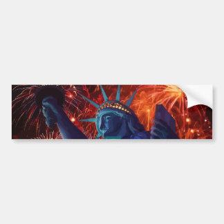 Americas Lady Liberty Bumper Sticker Car Bumper Sticker